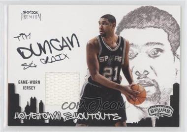 2004-05 Skybox Premium - Hometown Shoutouts Jerseys #HSJ-TD - Tim Duncan