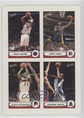2004-05 Topps Bazooka - 4-on-1 Stickers #7 - Vince Carter, Fred Jones, Jason Richardson, Desmond Mason