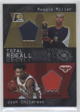 2004-05 Topps Chrome - Total Recall Dual #TR-MC - Reggie Miller, Josh Childress /100
