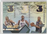 Jason Kidd, Alonzo Mourning, Richard Jefferson #/30