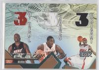 Shaquille O'Neal, Eddie Jones, Dorell Wright /200