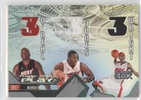 Shaquille O'Neal, Eddie Jones, Dorell Wright /450