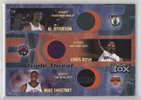 Al Jefferson, Chris Bosh, Mike Sweetney /30