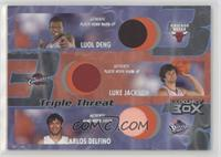 Luol Deng, Luke Jackson, Carlos Delfino #/450