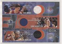 Yao Ming, Dirk Nowitzki, Tim Duncan /450