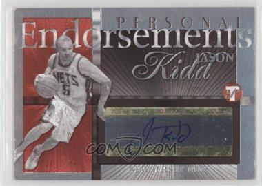 2004-05 Topps Pristine - Personal Endorsements #PE-JK - Jason Kidd
