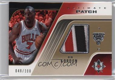 2004-05 Ultimate Collection - Ultimate Game Patch #UGP-BG - Ben Gordon /100