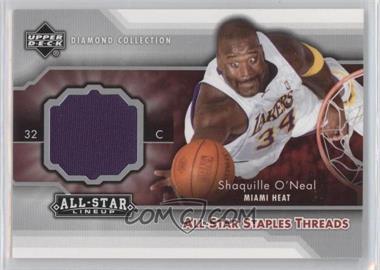 2004-05 Upper Deck All-Star Lineup - All-Star Staples Threads #STT-SO - Shaquille O'Neal