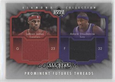2004-05 Upper Deck All-Star Lineup - Prominent Futures Threads #PFT-35 - Amare Stoudemire, Lebron James