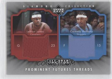 2004-05 Upper Deck All-Star Lineup - Prominent Futures Threads #PFT-JA - Lebron James, Carmelo Anthony