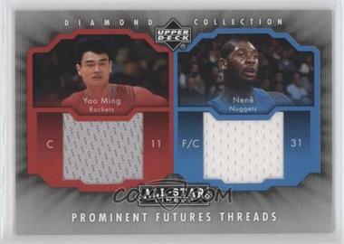 2004-05 Upper Deck All-Star Lineup - Prominent Futures Threads #PFT-MN - Nenê, Yao Ming