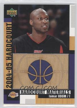 2004-05 Upper Deck Hardcourt - Hardcourt Materials - Combo Player's Materials #HCM-LO - Lamar Odom