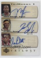 Jamaal Magloire, J.R. Smith, Tim Pickett #/35