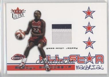 2004 Fleer Ultra WNBA - All-Star Material - Patches #ASM-SS - Sheryl Swoopes /100
