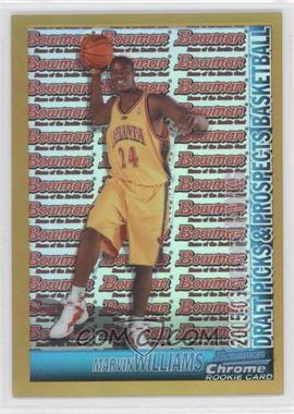 2005-06 Bowman Draft Picks & Prospects - [Base] - Chrome Gold Refractor #140 - Marvin Williams /50