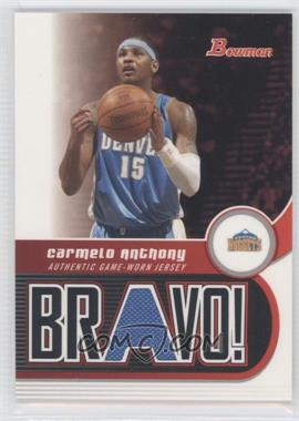 2005-06 Bowman Draft Picks & Prospects - Bravo! #BV-CA - Carmelo Anthony