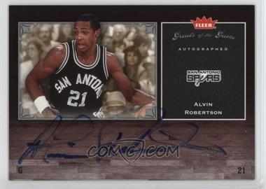 2005-06 Fleer Greats of the Game - Autographed - [Autographed] #GG-AR - Alvin Robertson
