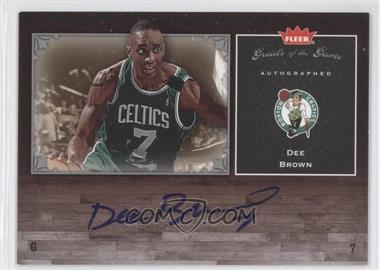 2005-06 Fleer Greats of the Game - Autographed - [Autographed] #GG-DB - Dee Brown