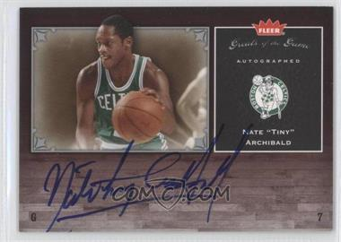 2005-06 Fleer Greats of the Game - Autographed - [Autographed] #GG-NA - Nate Archibald