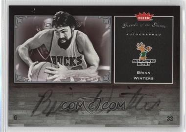2005-06 Fleer Greats of the Game - Autographed - [Autographed] #GG-WI - Brian Winters