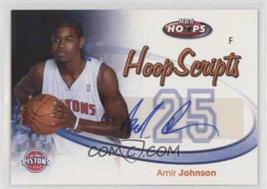 2005-06 NBA Hoops - Hoop Scripts #HS-AJ - Amir Johnson