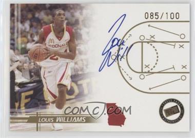 2005-06 Press Pass - Autographs - Gold #LOWI - Louis Williams /100