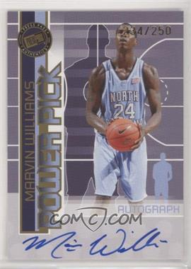 2005-06 Press Pass - Power Pick Autographs - [Autographed] #MAWI - Marvin Williams /250