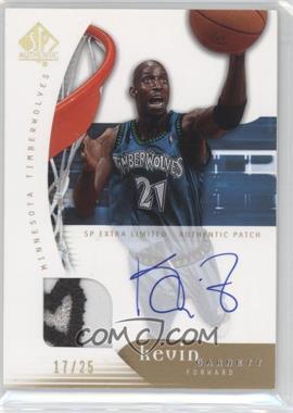 2005-06 SP Authentic - [Base] - SP Extra Limited Autograph Patch [Autographed] #49 - Kevin Garnett /25
