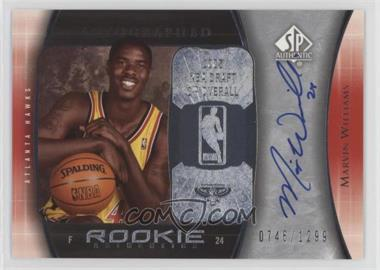 2005-06 SP Authentic - [Base] #92 - Marvin Williams /1299