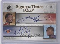 Luther Head, Nate Robinson /50