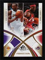 Kobe Bryant, LeBron James [Near Mint] #/50