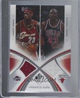 LeBron James, Michael Jordan [Near Mint] #/100