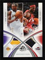 Kobe Bryant, LeBron James [Near Mint‑Mint] #/15
