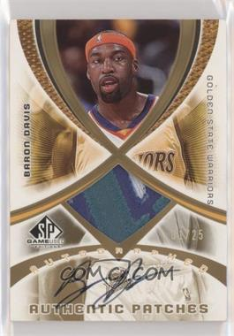 2005-06 SP Game Used Edition - Autographed Authentic Patches #AAP-BD - Baron Davis /25