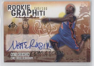 2005-06 SP Signature Edition - Rookie GRAPHiti #RG-NR - Nate Robinson /100