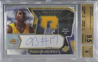 Autographed Rookie Jersey - Andrew Bynum [BGS9.5GEMMINT] #/1,…
