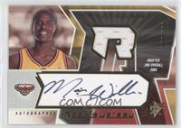 Autographed Rookie Jersey - Marvin Williams #/750