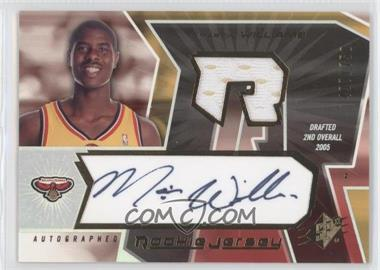 2005-06 SPx - [Base] #154 - Autographed Rookie Jersey - Marvin Williams /750