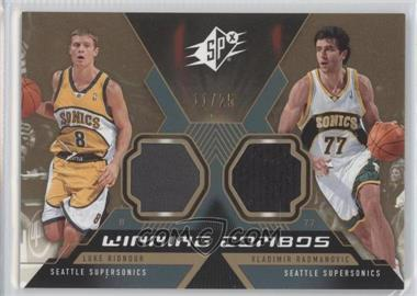 2005-06 SPx - Winning Combos Materials - Spectrum #WC-RR - Luke Ridnour, Vladimir Radmanovic /25