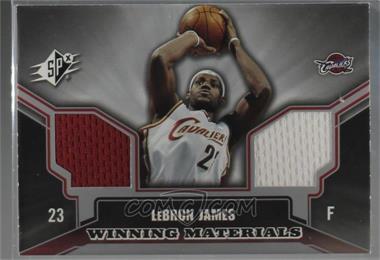 2005-06 SPx - Winning Materials #WM-LJ - Lebron James