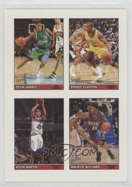 2005-06 Topps Bazooka - 4-on-1 Stickers #45 - Devin Harris, Speedy Claxton, Marvin Williams, Kevin Martin