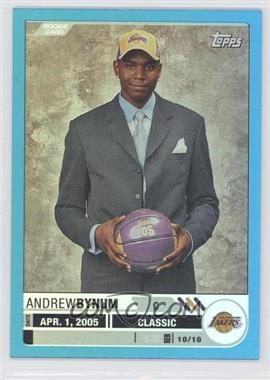 2005-06 Topps Big Game - [Base] - Blue #127 - Andrew Bynum /33
