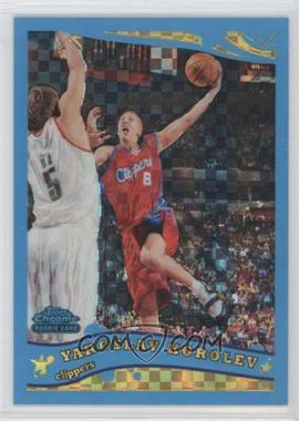 2005-06 Topps Chrome - [Base] - Blue X-Fractor #214 - Yaroslav Korolev /90