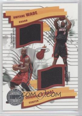 2005-06 Topps First Row - Pick-n-Roll Dual Relics #PR-OW - Dwyane Wade, Shaquille O'Neal /200