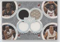 Dwyane Wade, Antoine Walker, Shaquille O'Neal, Jason Williams #/193