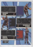 Dwyane Wade, Shaquille O'Neal, Udonis Haslem #/25