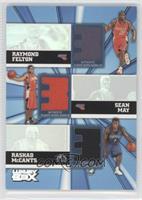 Raymond Felton, Rashad McCants, Sean May #/250