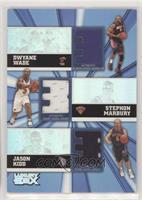 Dwyane Wade, Stephon Marbury, Jason Kidd #/250