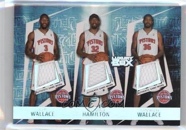 2005-06 Topps Luxury Box - Triple Double Relics #TDR-9 - Ben Wallace, Richard Hamilton, Rasheed Wallace, Chauncey Billups, Tayshaun Prince /193