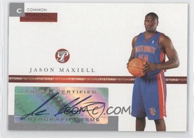 2005-06 Topps Pristine - Personal Endorsements Autographs - [Autographed] #PEC-JM - Jason Maxiell /215